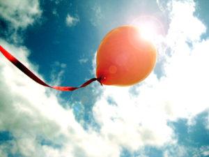Воздушный шар с прахом покойного